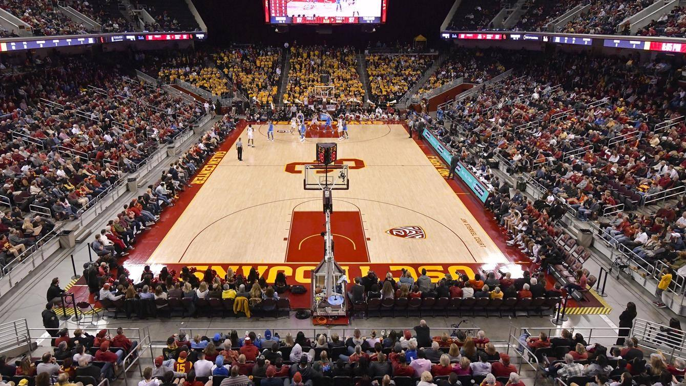 USC Galen Center Baseline View