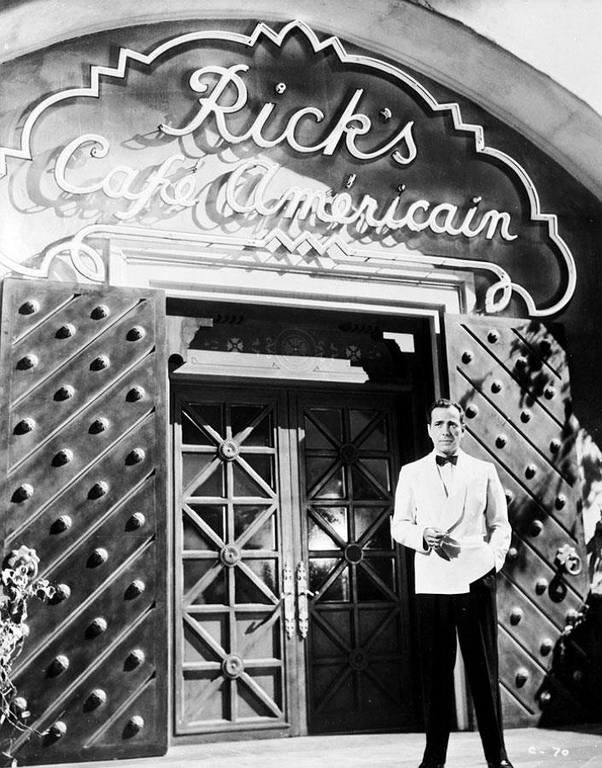 "Cafe Americain de Rick en ""Casablanca"""