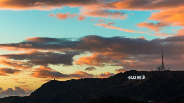 Hollywood Sign depuis le Griffith Observatory