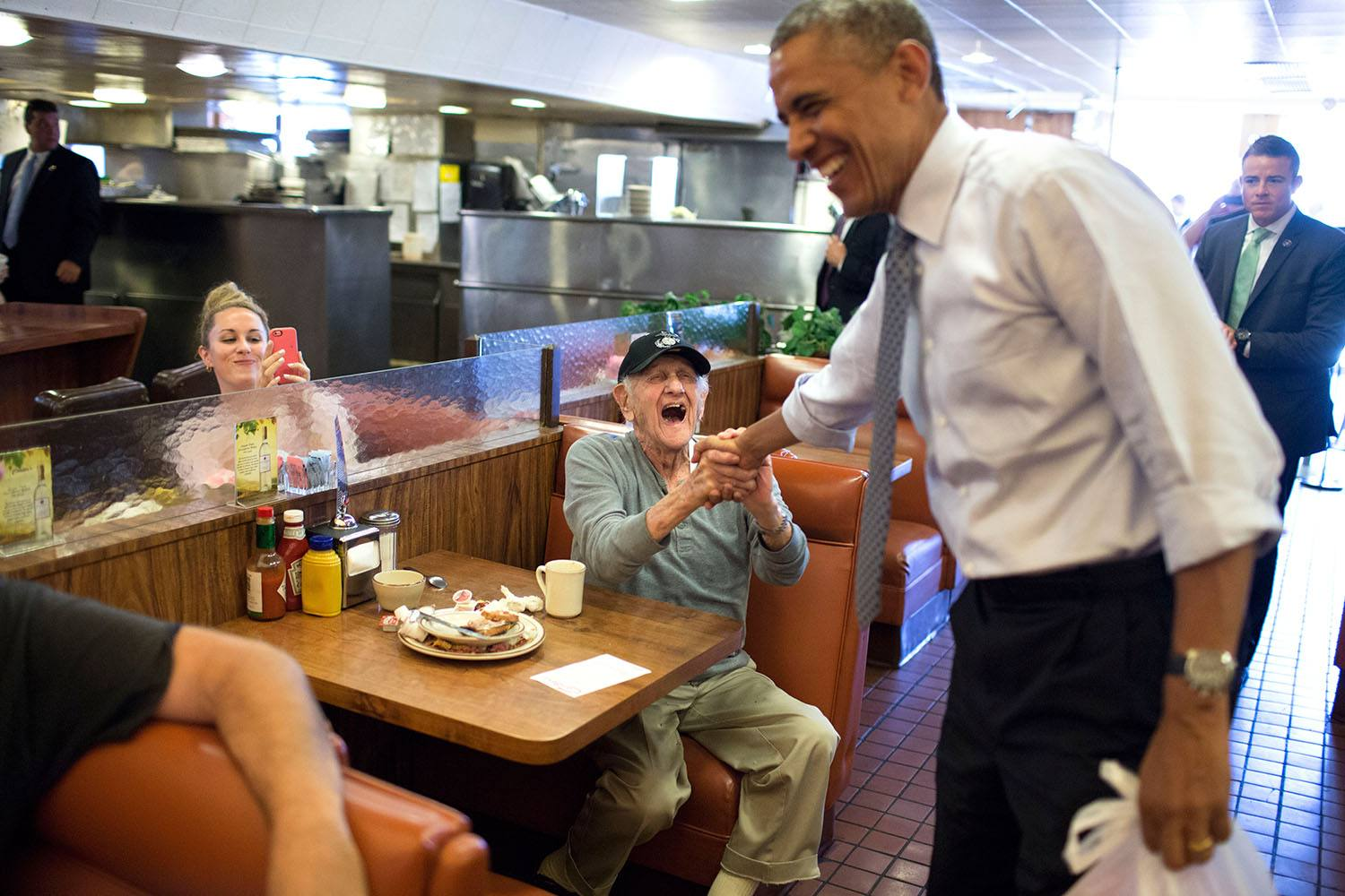 President Barack Obama at Canter's Deli