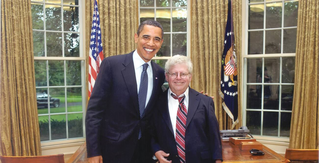 President Barack Obama and Roger Boesche at the White House in 2009