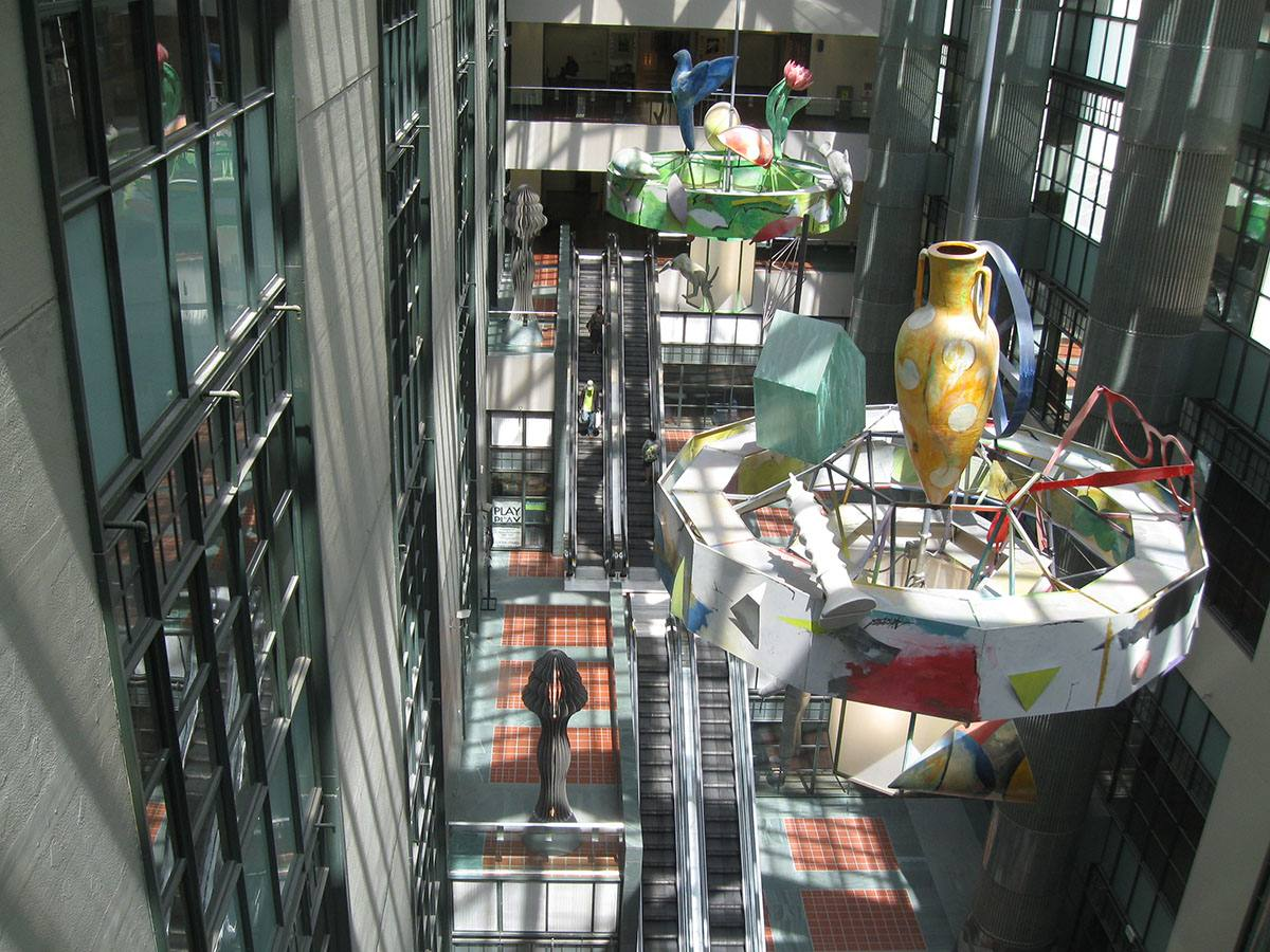 Tom Bradley Wing atrium at the Central Library