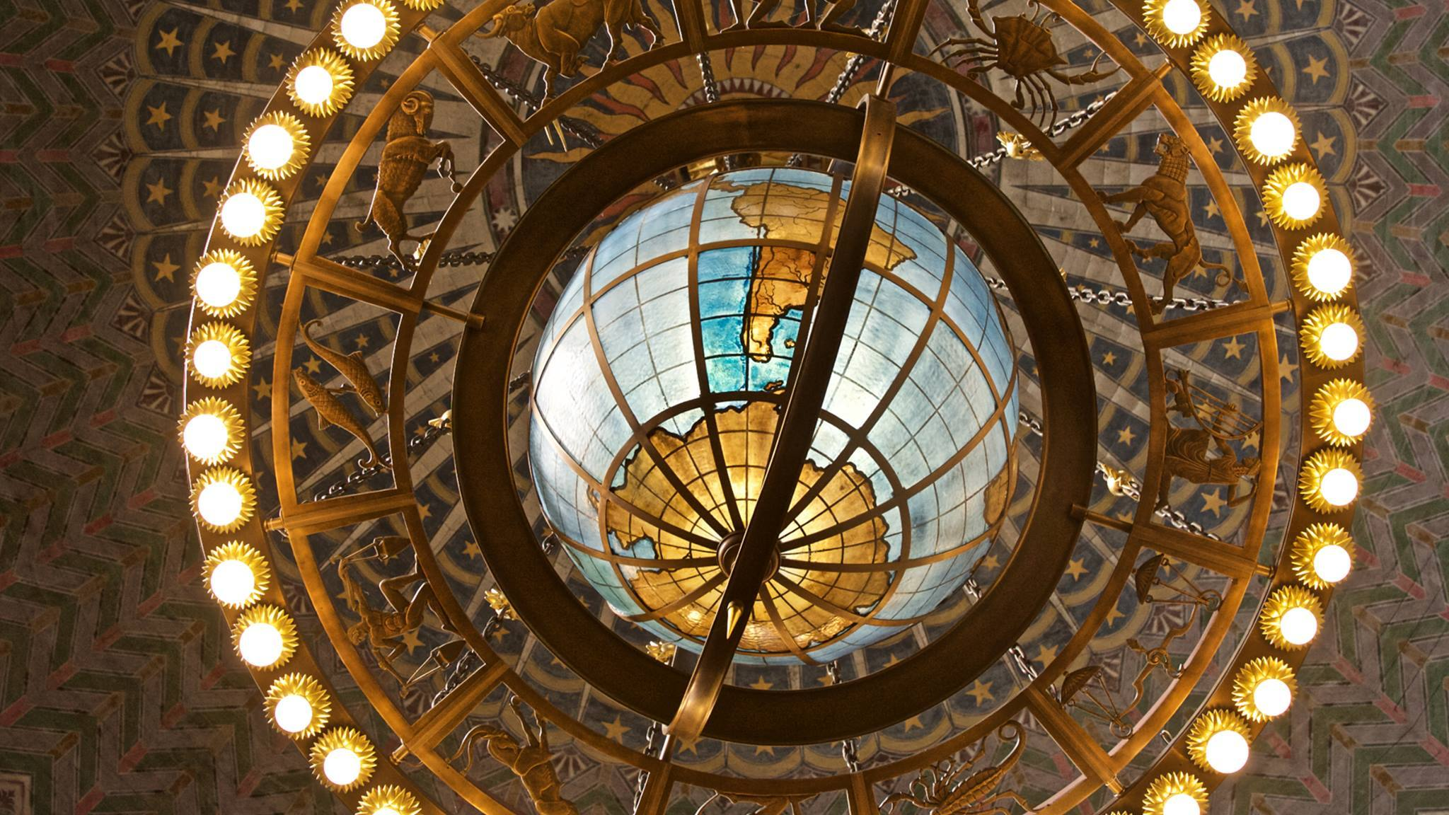 Zodiac Chandelier at the Central Library in DTLA