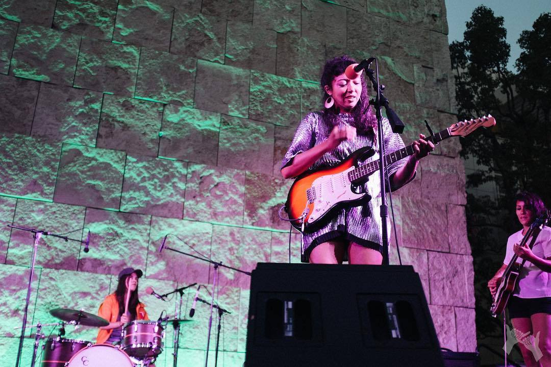 La Luz performs at Off the 405 at the Getty Center | Photo: @cooltite, Instagram