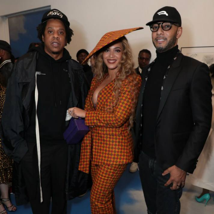 "Jay-Z, Beyoncé and Kasseem ""Swizz Beatz"" Dean at UTA Artist Space"
