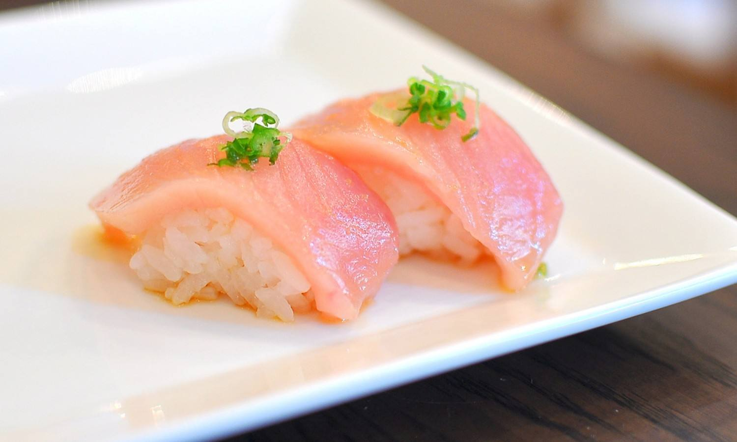 Albacore sushi at SUGARFISH Studio City
