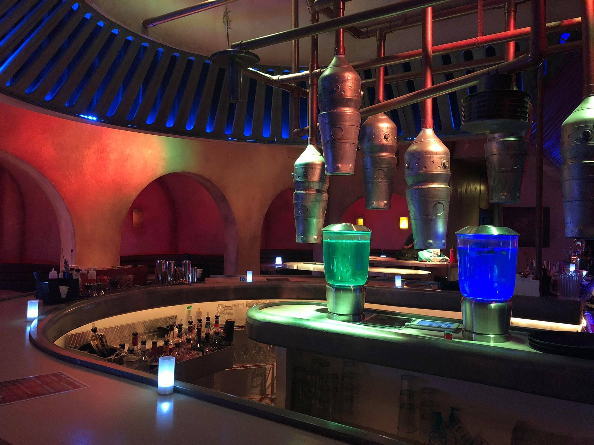 The bar at Scum & Villainy Cantina in Hollywood