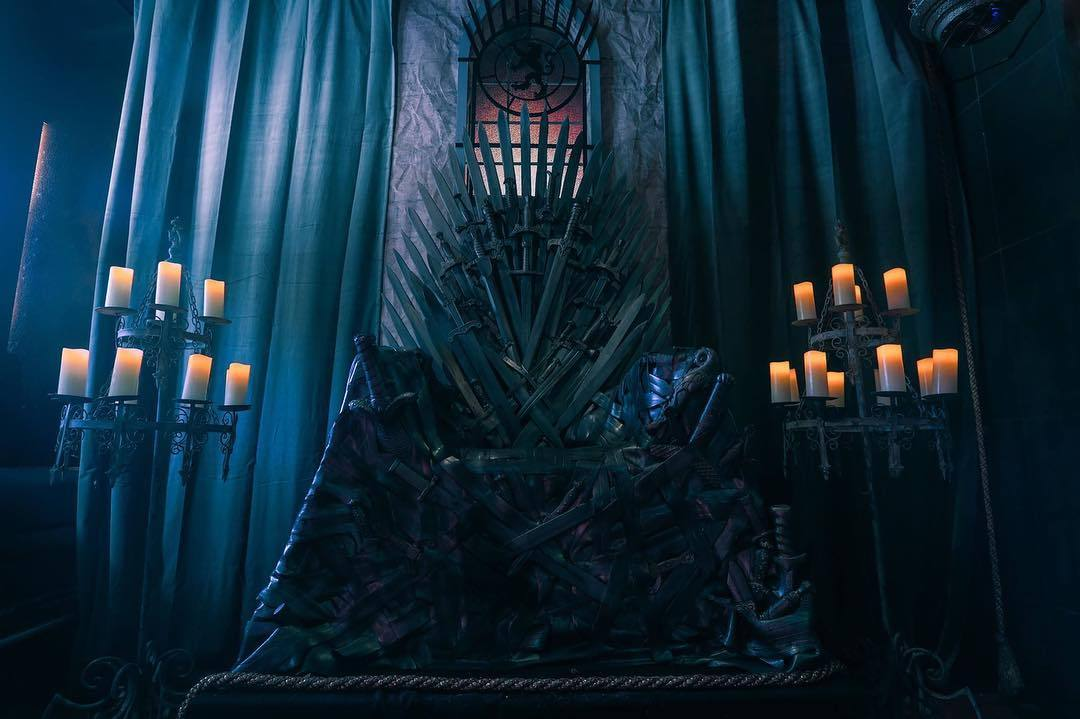 The Iron Throne at Scum & Villainy Cantina in Hollywood