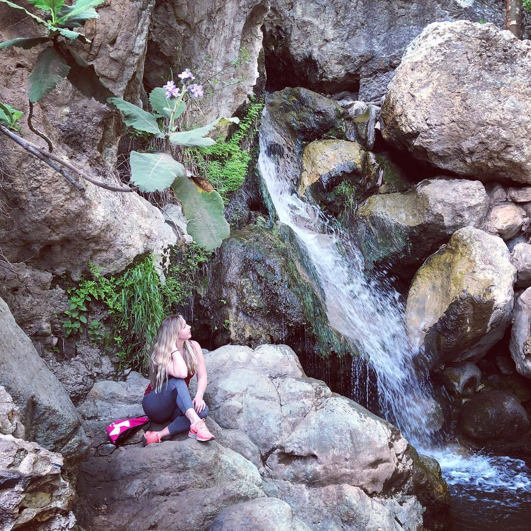 Waterfall at Solstice Canyon in Malibu