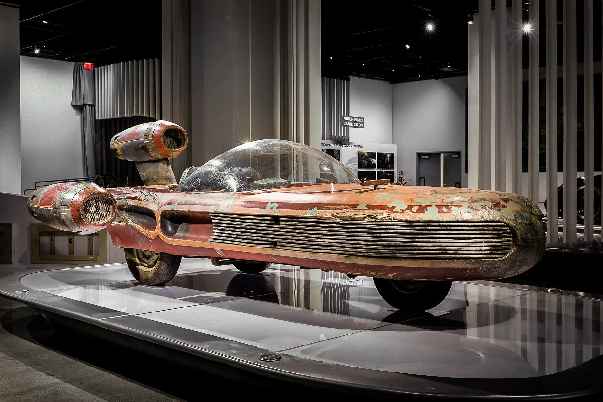 Star Wars Landspeeder on loan from the Lucas Museum of Narrative Art | Photo: Petersen Automotive Museum, Facebook