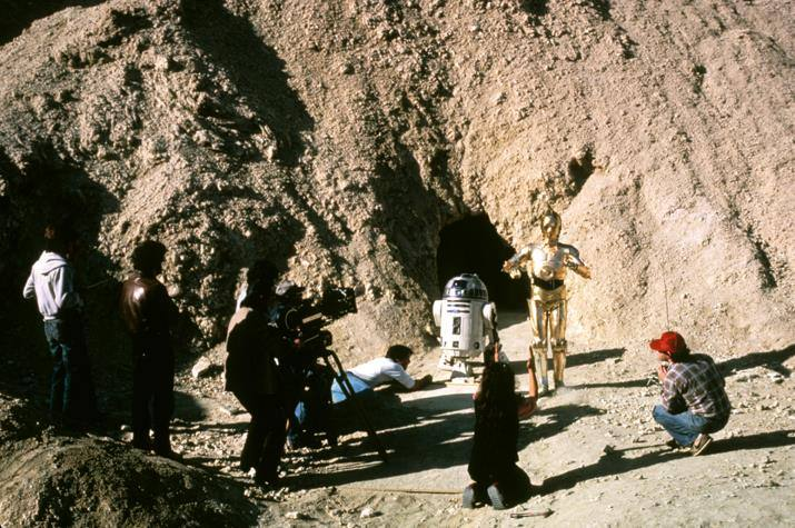 """Star Wars"" filming in Death Valley"