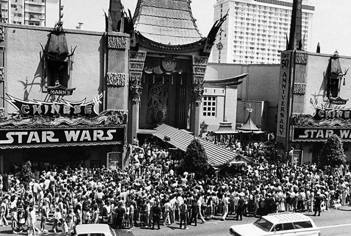 """Star Wars"" at Mann's Chinese Theatre in 1977"