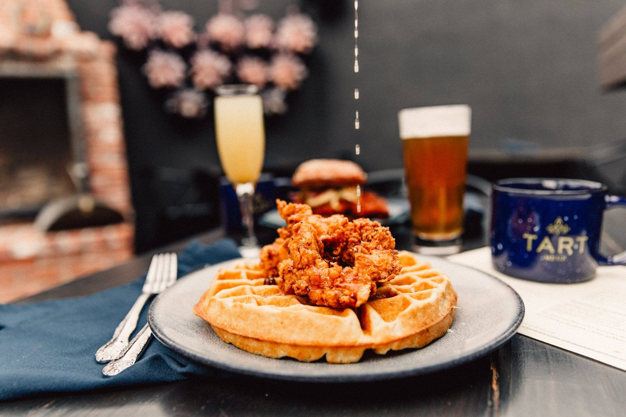 Fried chicken & waffle at Tart Restaurant