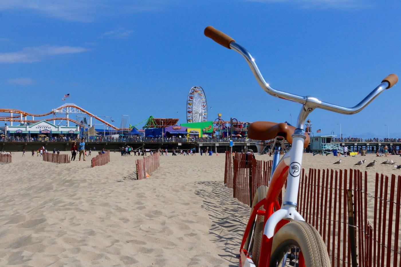 Biking The Strand at Santa Monica Pier