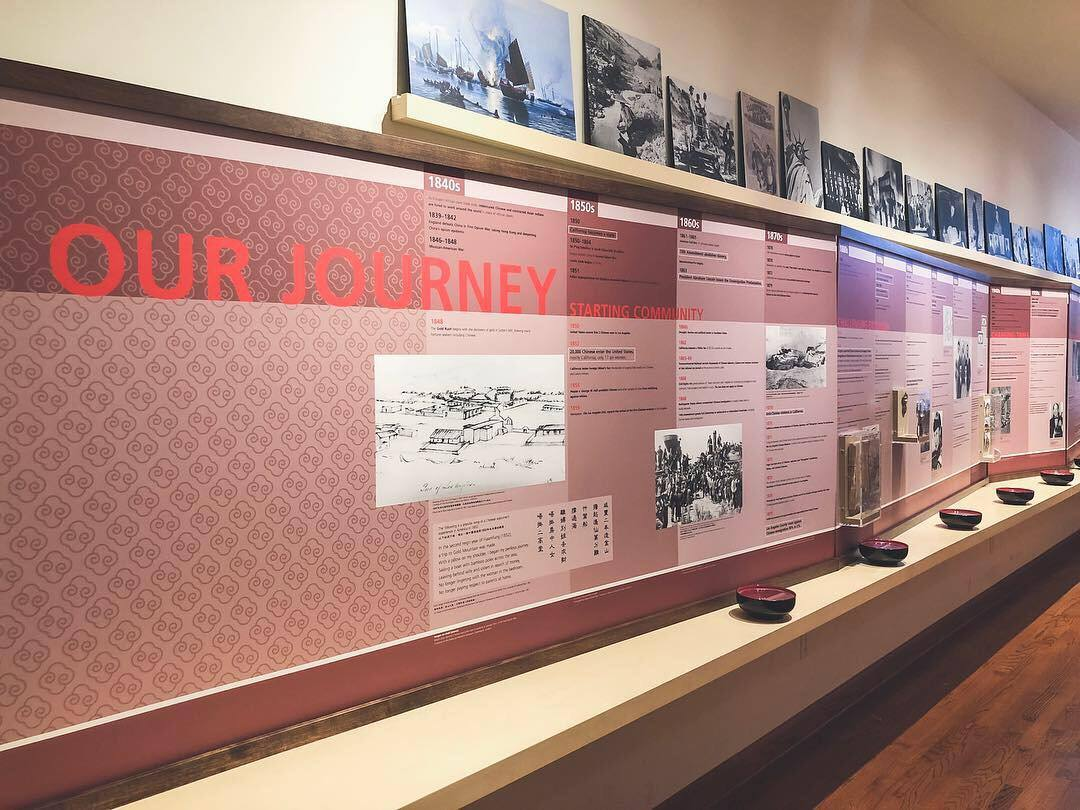 """Journeys"" timeline at the Chinese American Museum"