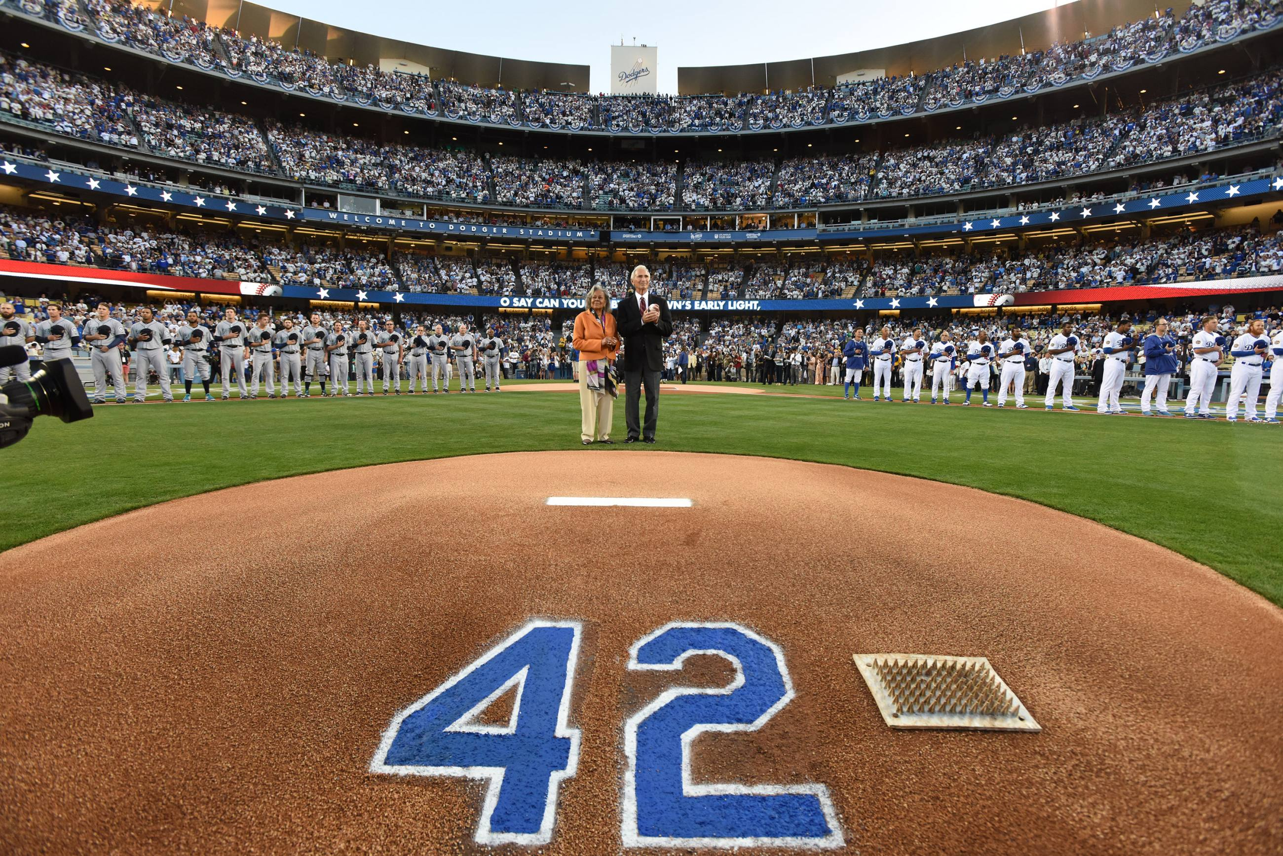 Jackie Robinson Day at Dodger Stadium in 2015
