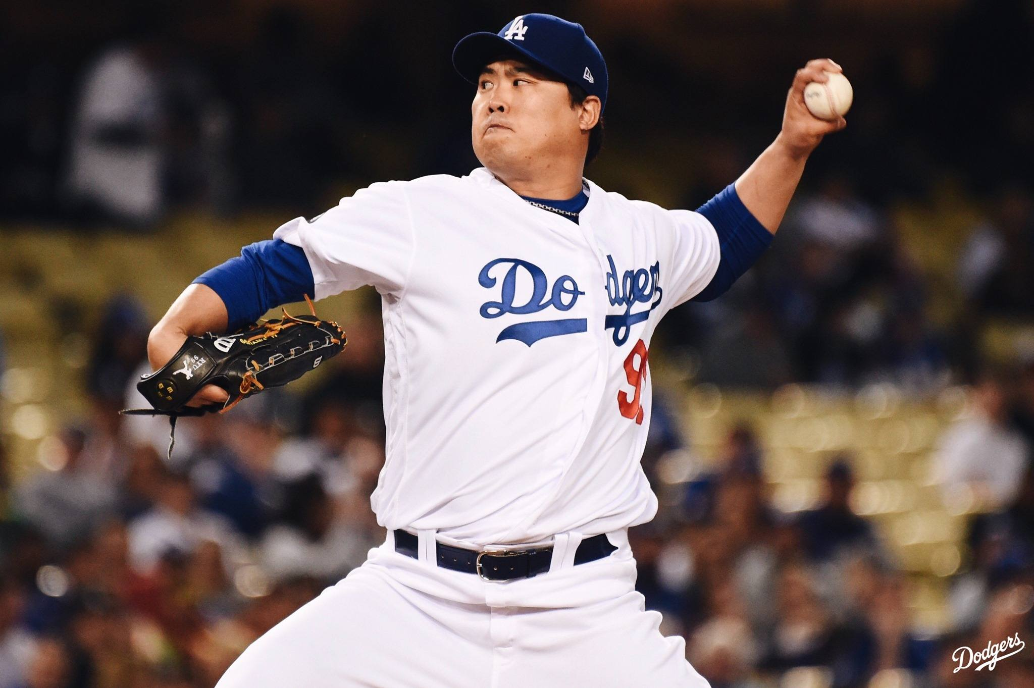 Los Angeles Dodgers pitcher Hyun-jin Ryu