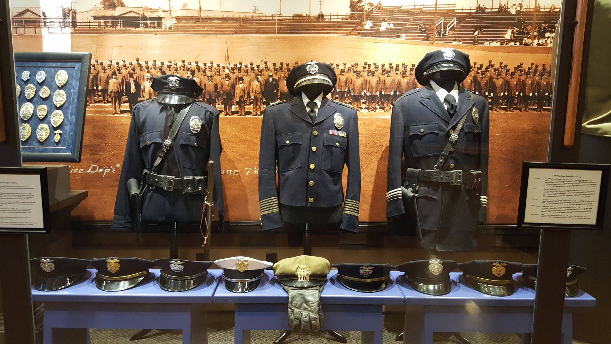 Los Angeles Police Museum uniforms