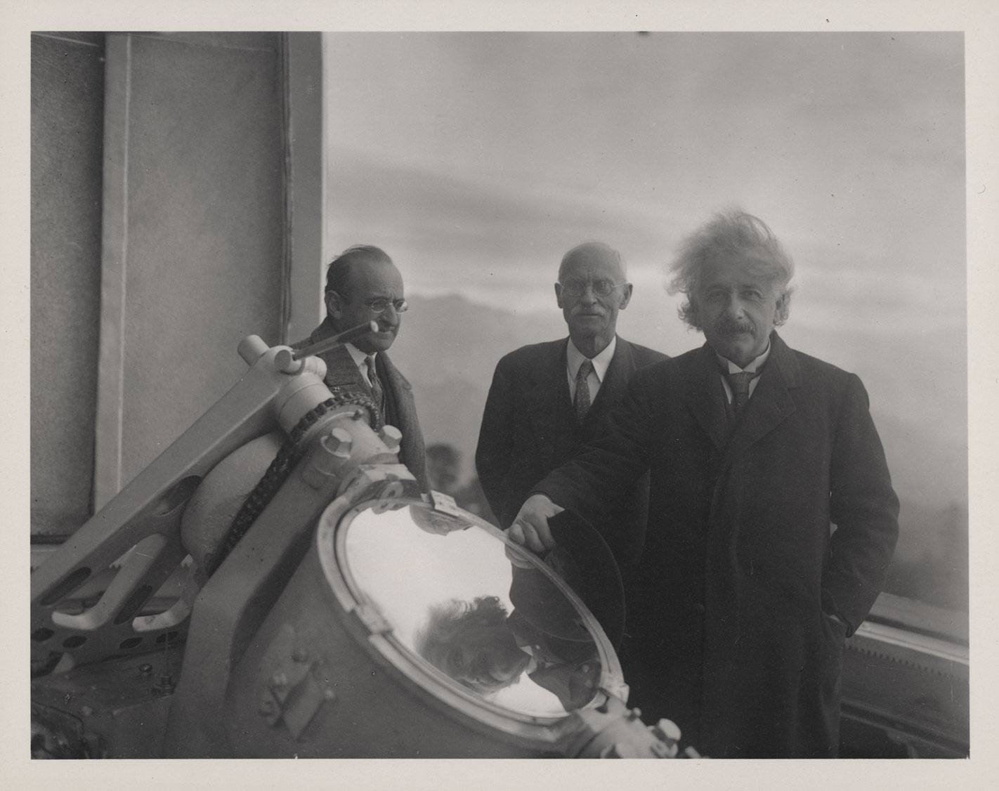 Albert Einstein at the Mount Wilson Observatory