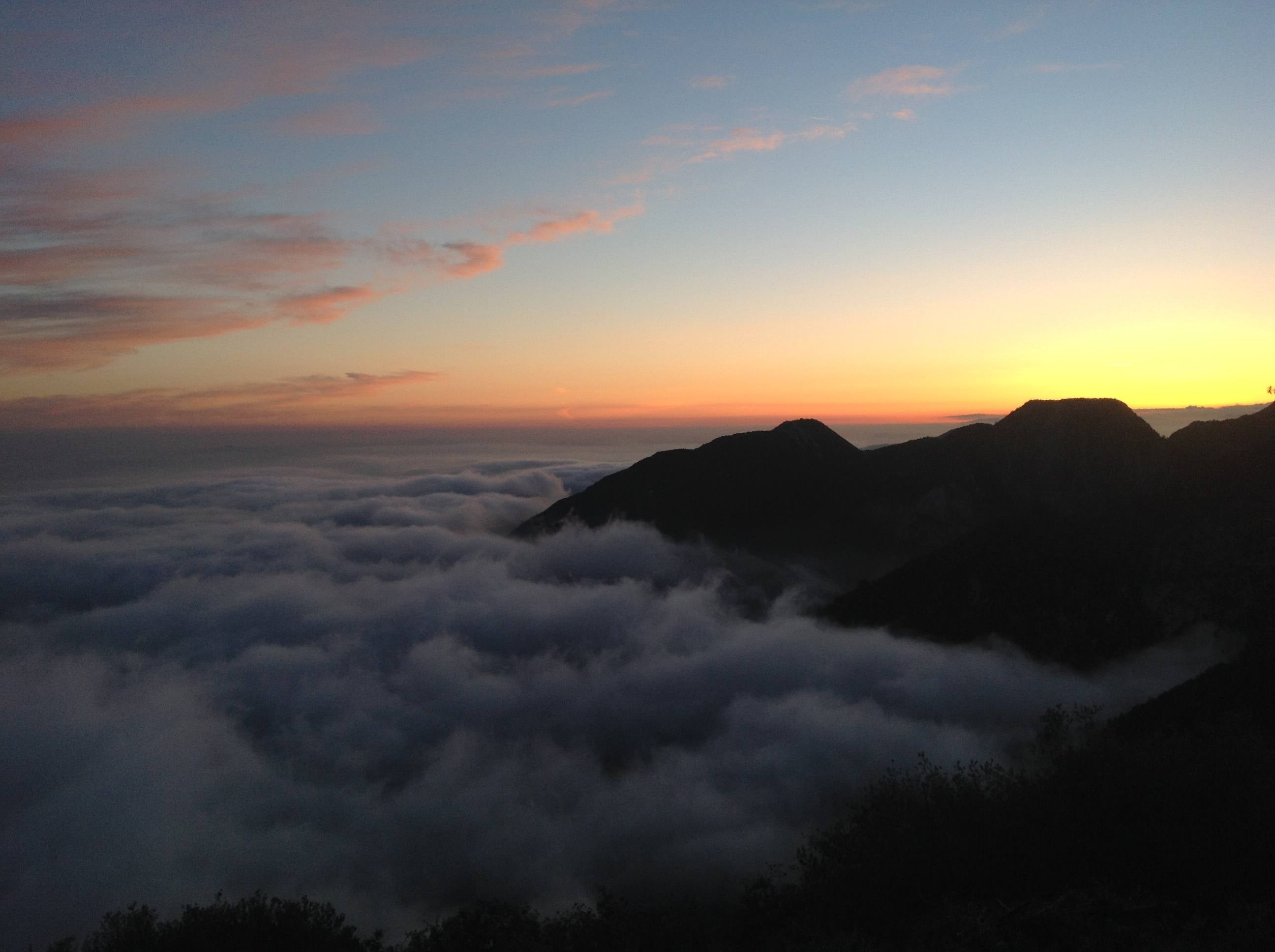 Mount Wilson Observatory clouds