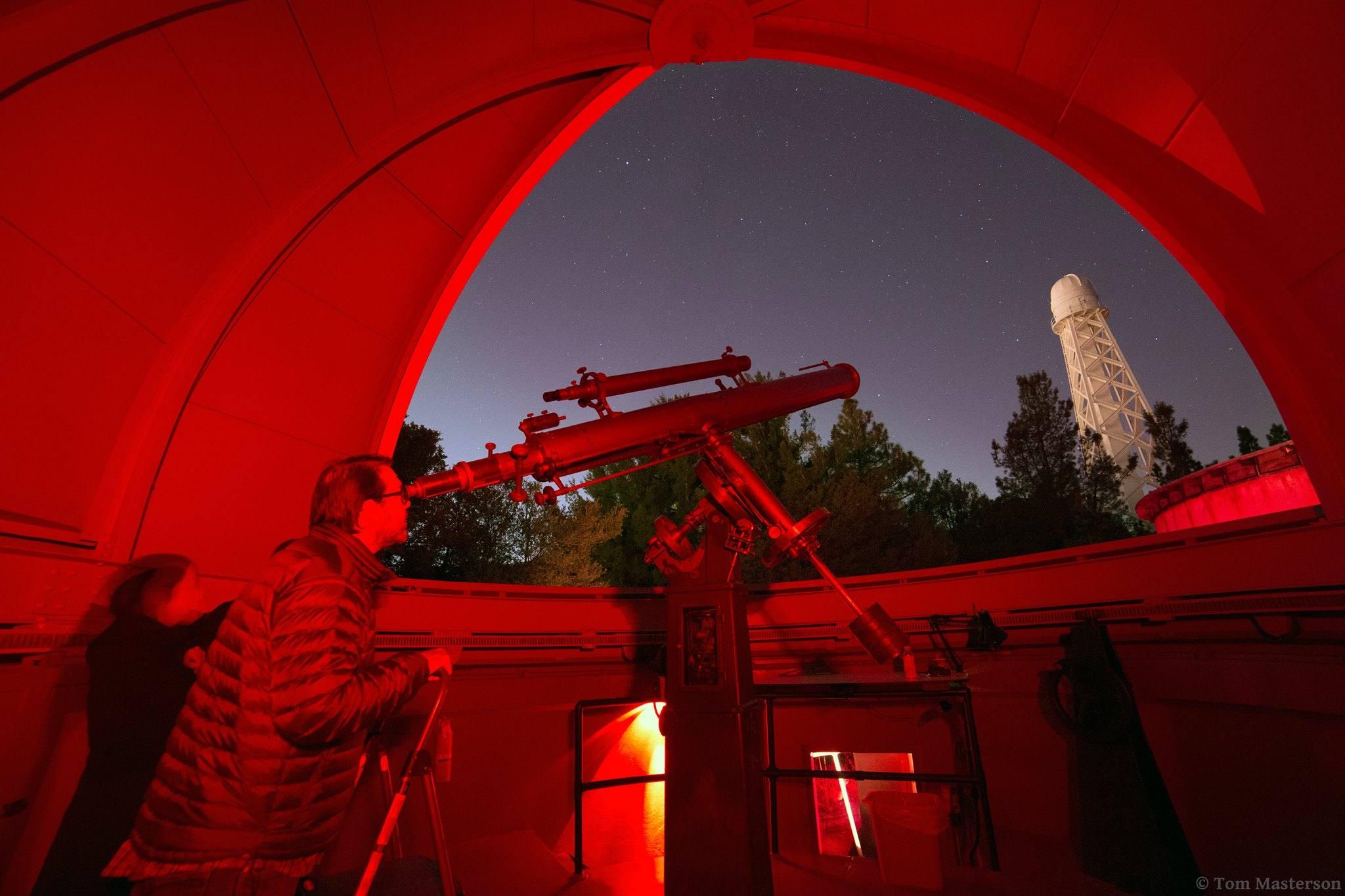 Mount Wilson Observatory telescope viewing
