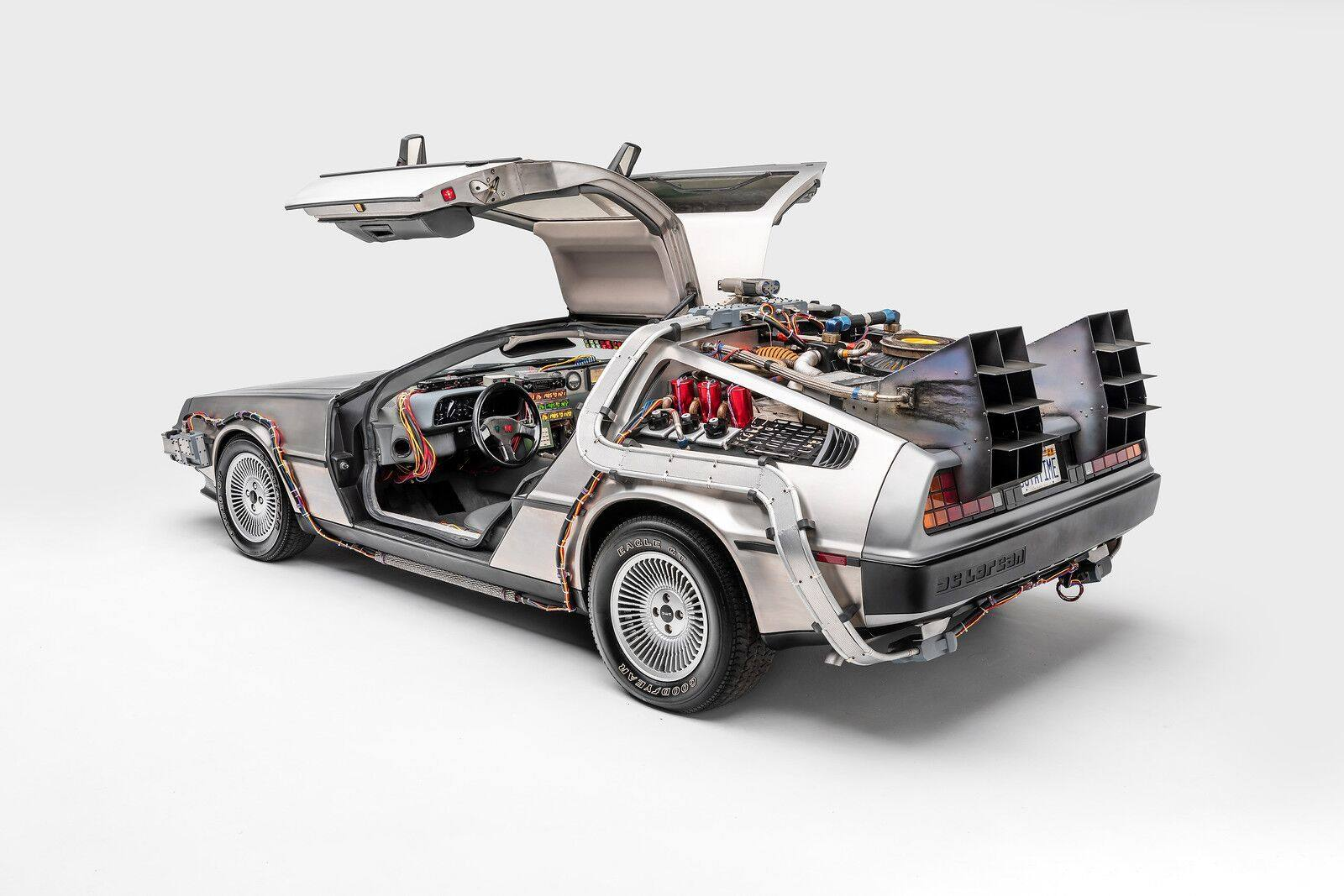 DeLorean Time Machine from Back to the Future (1985), Back to the Future II (1989), and Back to the Future III (1990) | Photo: Petersen Automotive Museum