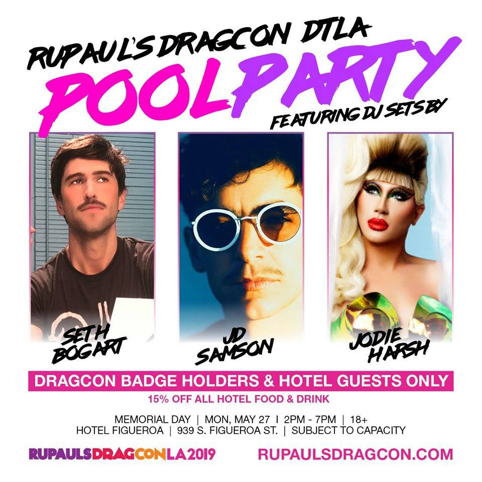 RuPaul's DragCon Official Pool Party at Hotel Figueroa
