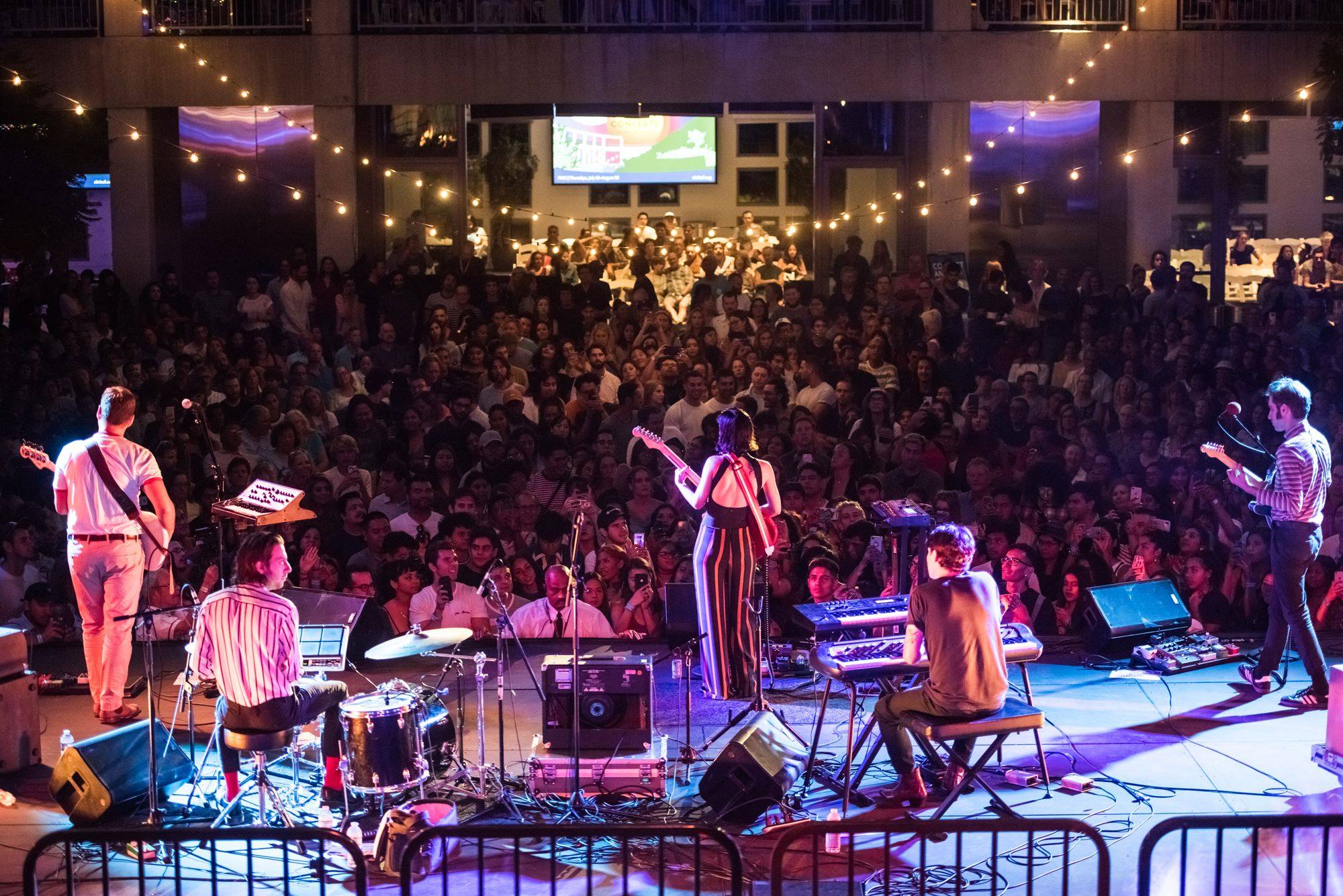 The Marias performing at Skirball Cultural Center Sunset Concerts in 2018