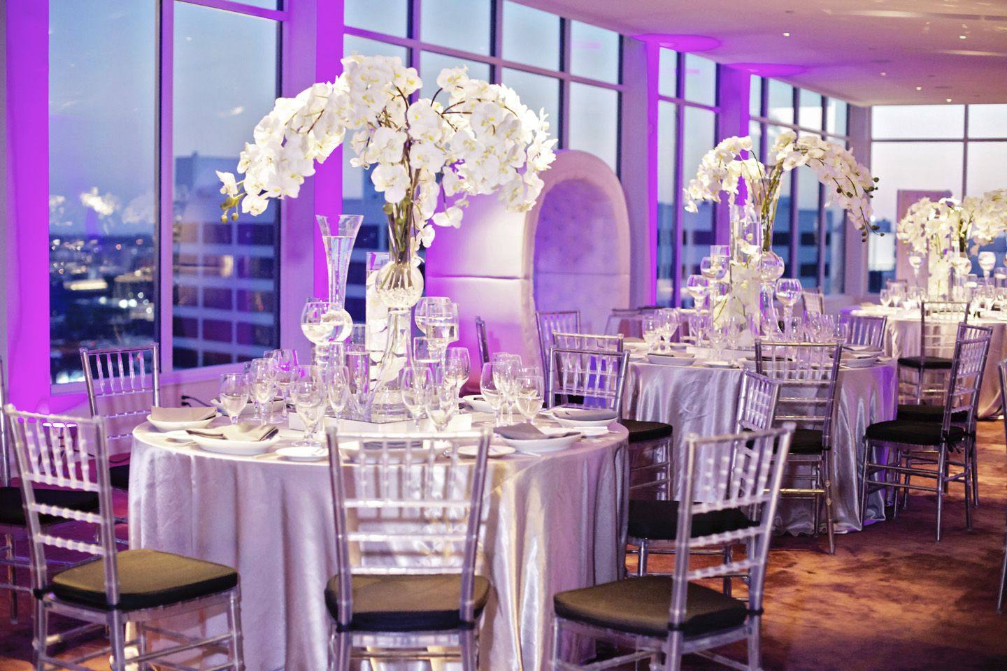 Andaz West Hollywood Panorama Ballroom wedding reception