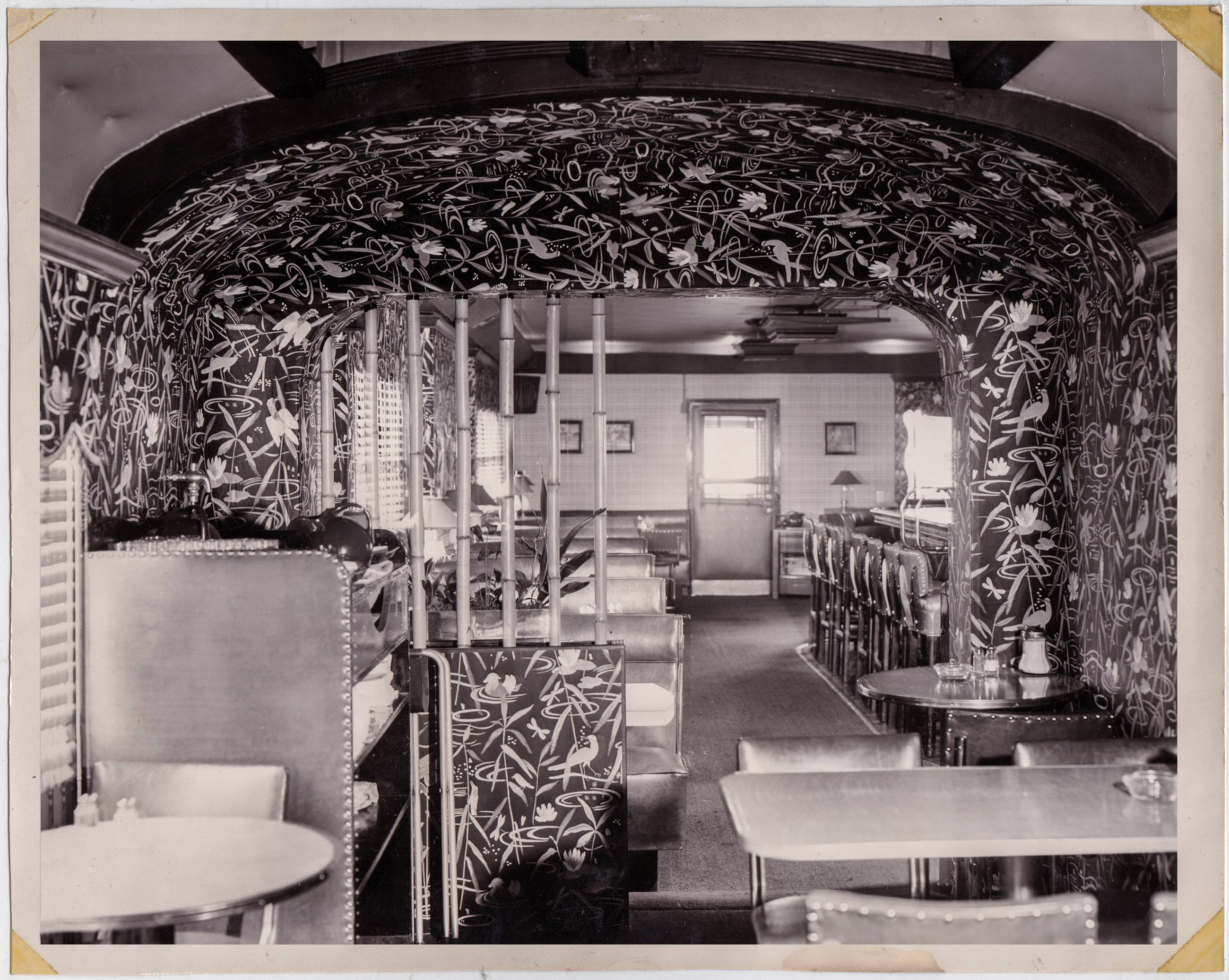Vintage photo of the Formosa Cafe interior