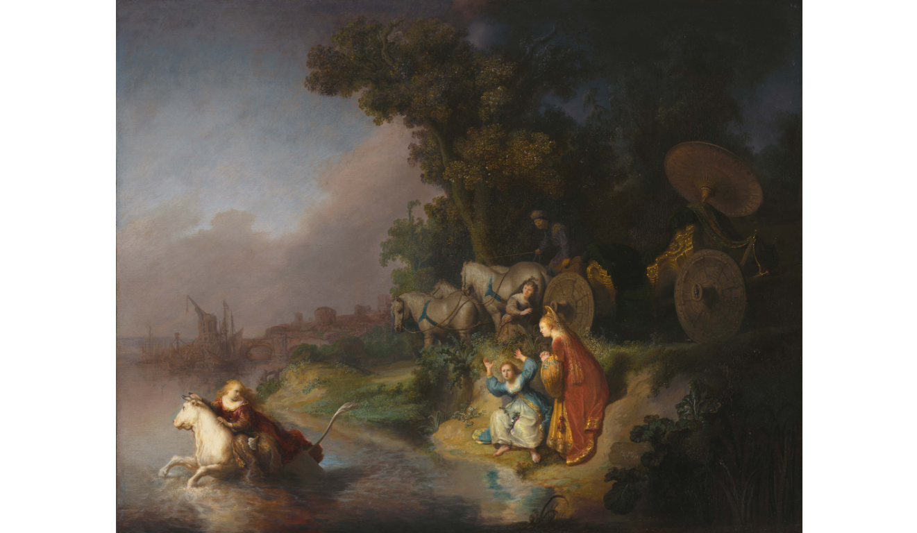 "Rembrandt ""The Abduction of Europa"" at the Getty Center"
