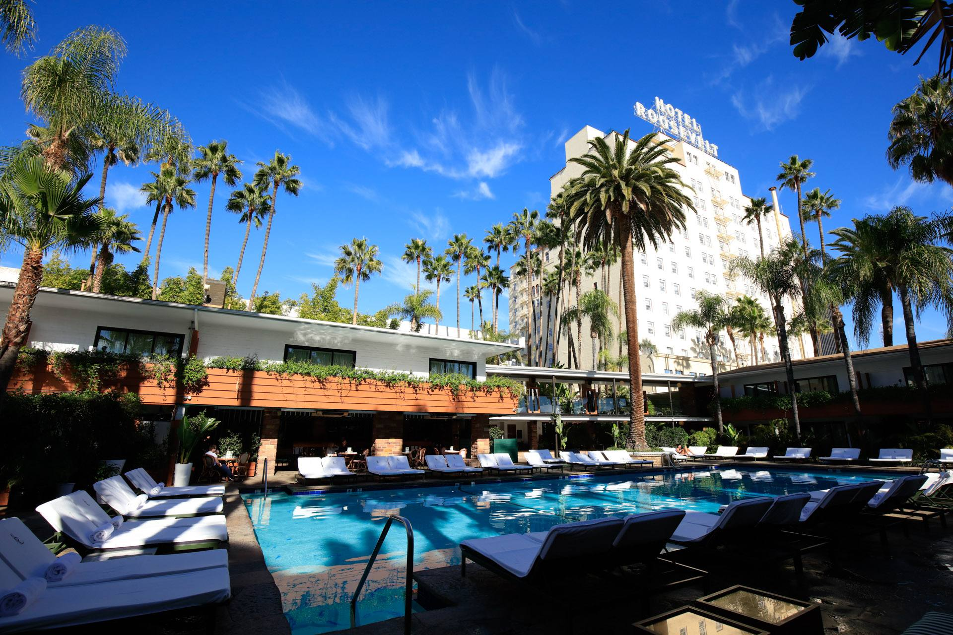 Hollywood Roosevelt Hotel Tower and Tropicana Pool