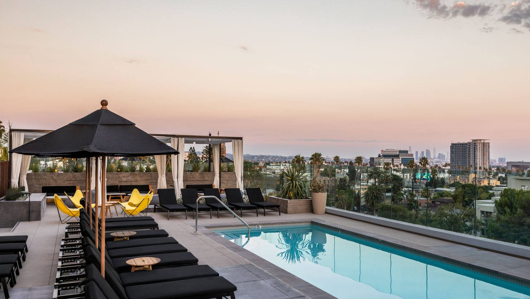 Rooftop Pool at Kimpton Everly Hollywood