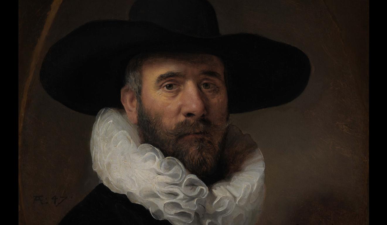 """Rembrandt """"Portrait of Dirck Jansz. Pesser"""" at LACMA"""