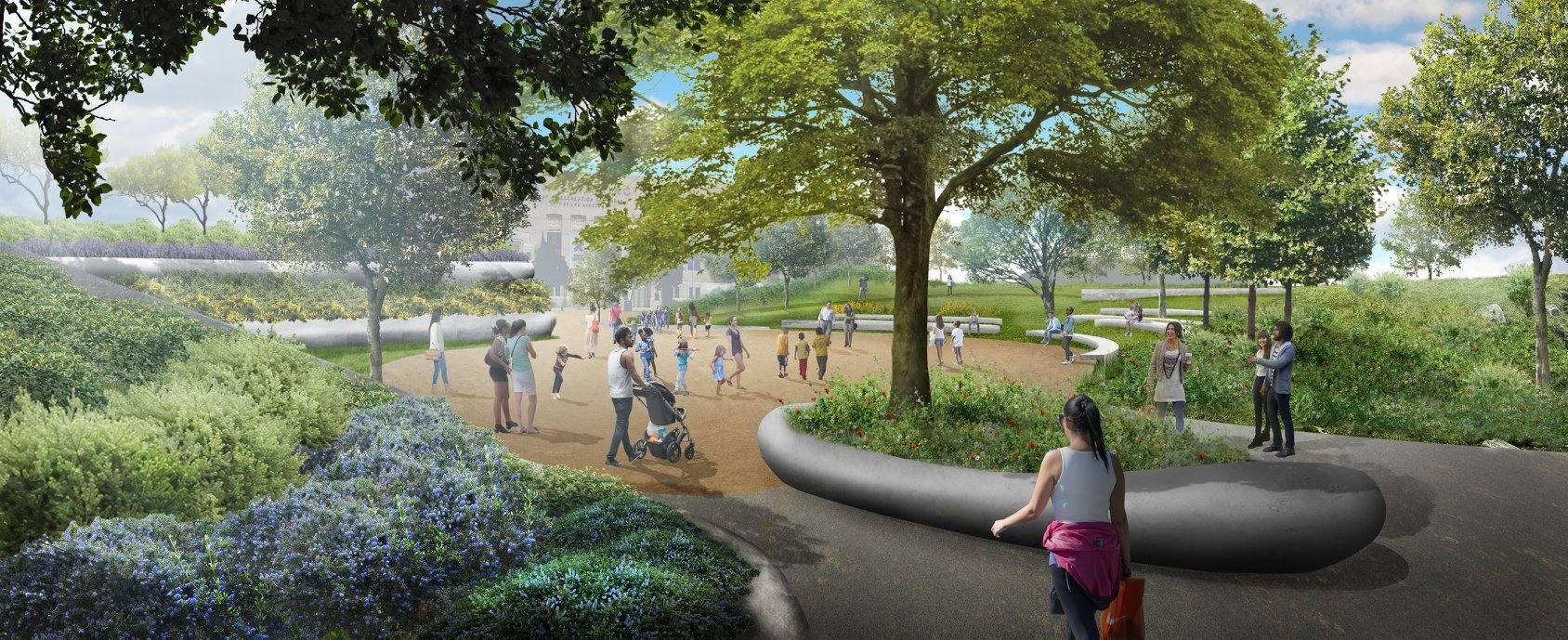 Lucas Museum gardens rendering