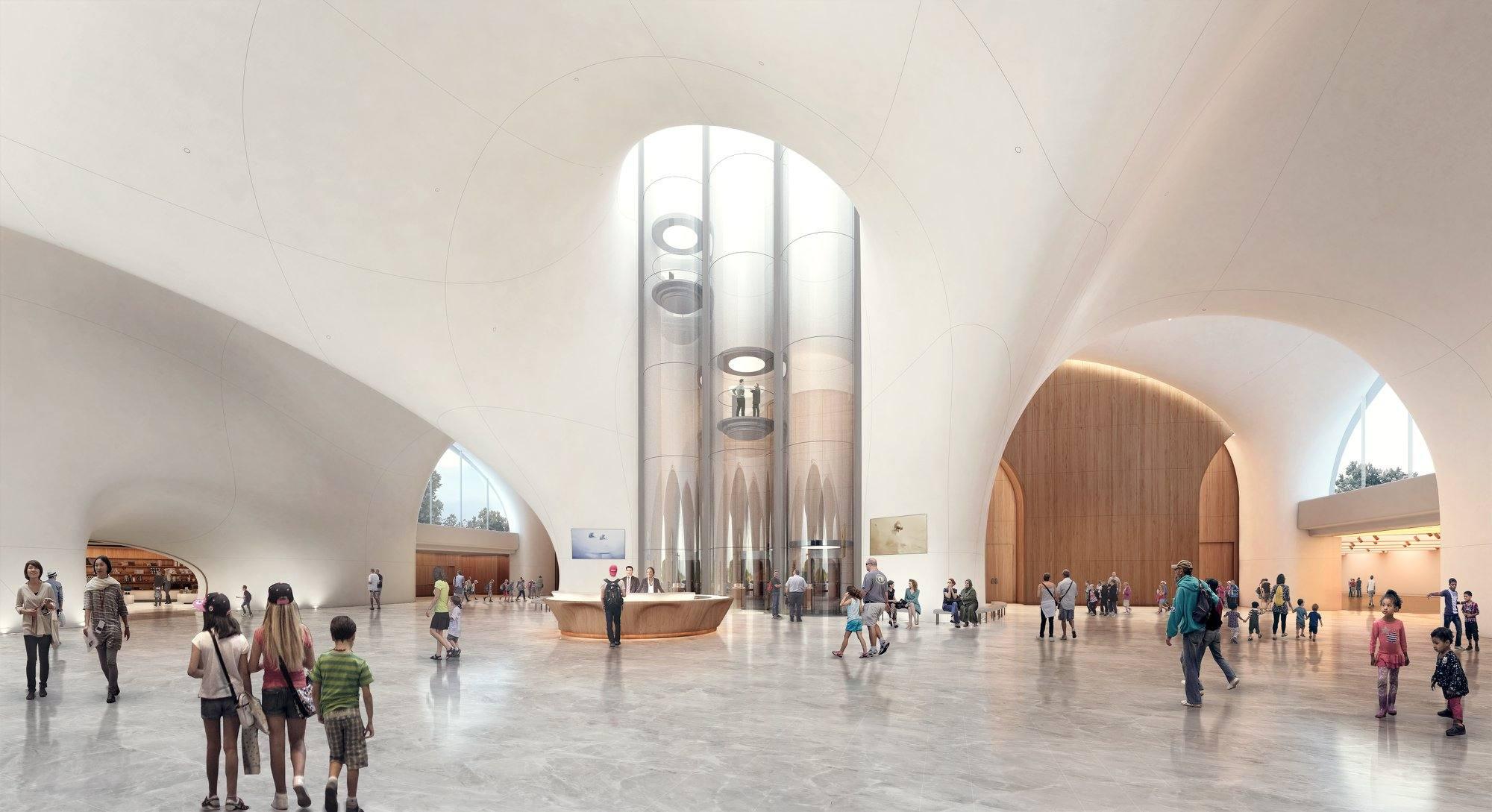 Lucas Museum lobby rendering