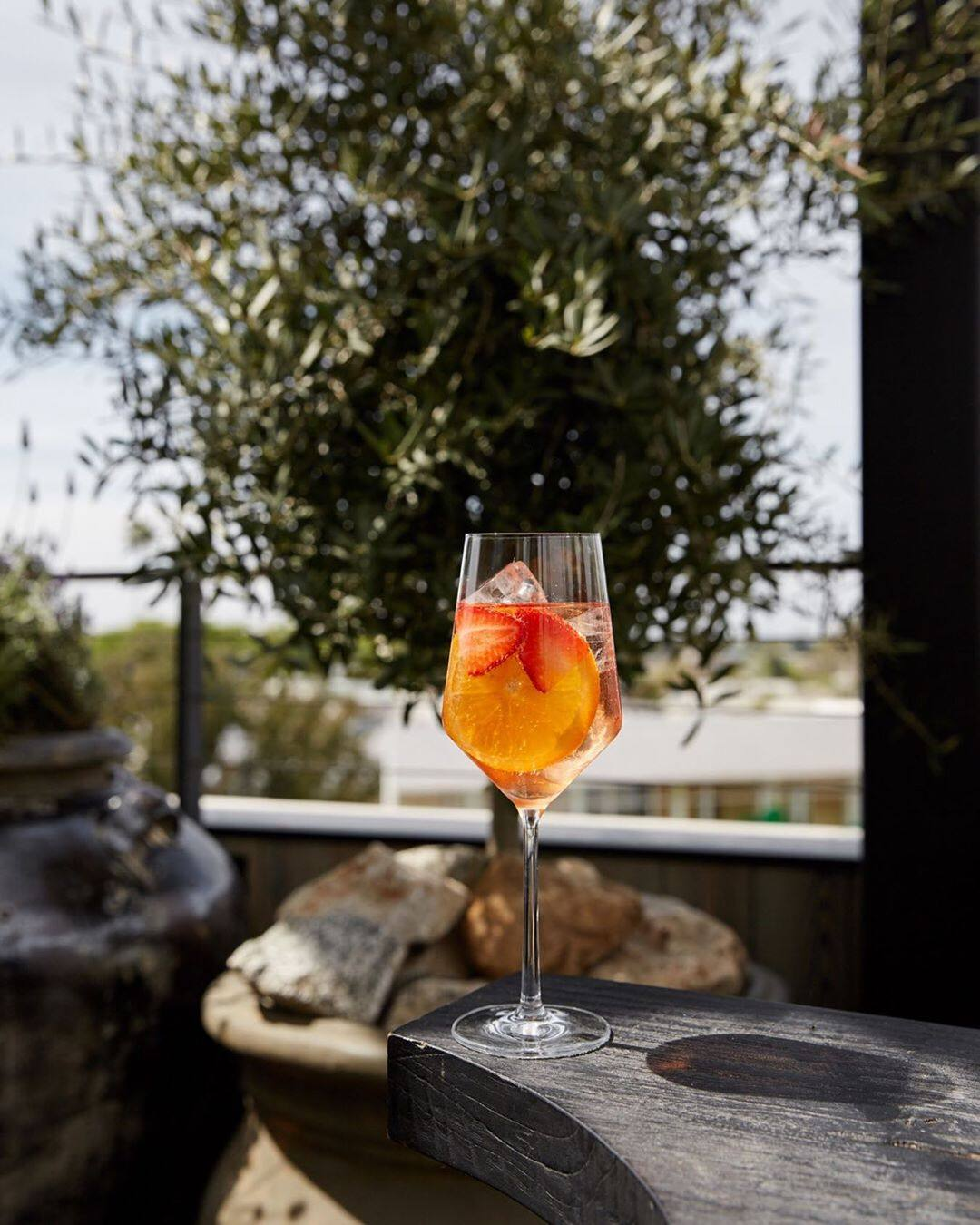 Strawberry Spritz at Margot | Photo: @margotlosangeles, Instagram