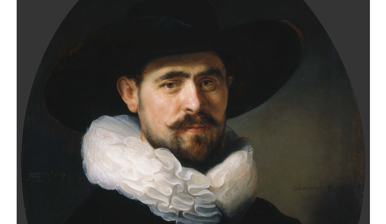 "Rembrandt ""Portrait of a Bearded Man in a Wide-Brimmed Hat"" at the Norton Simon Museum"