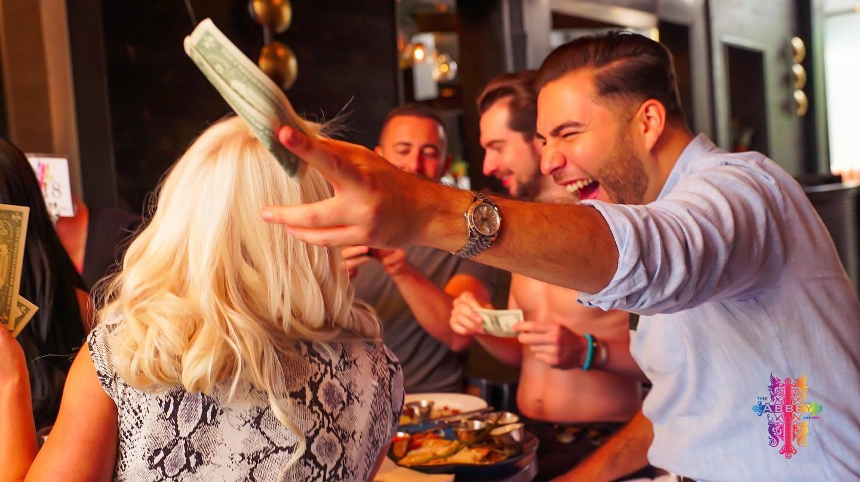 The Abbey Food & Bar Brunch Service dollar bills