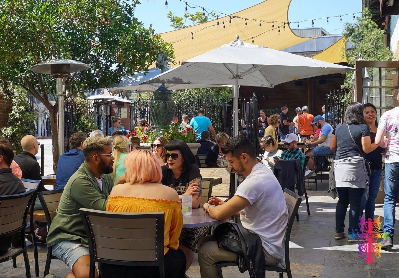 The Abbey Food & Bar patio