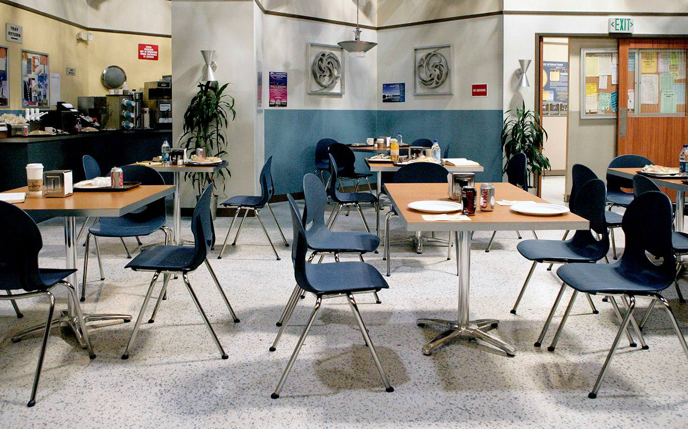 "Caltech Cafeteria set from ""The Big Bang Theory"" at Warner Bros."