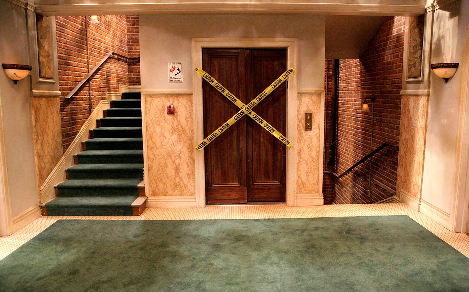 "Elevator set from ""The Big Bang Theory"" at Warner Bros."