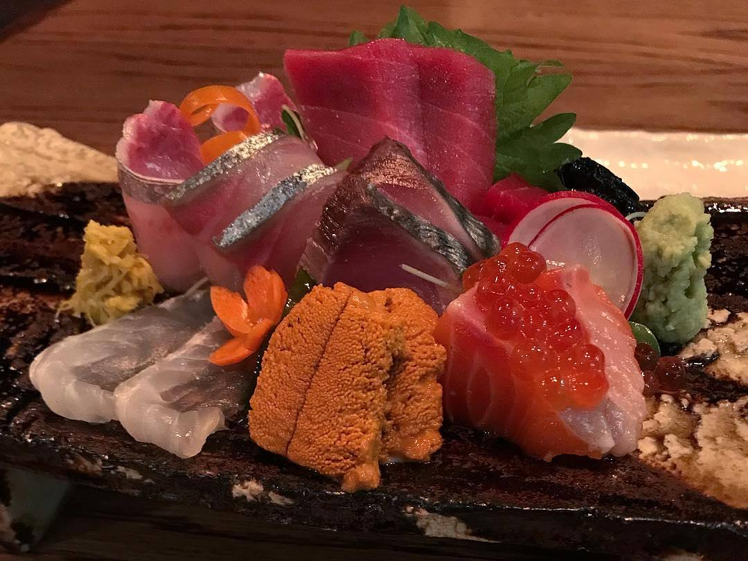 Sashimi at Aburiya Raku in West Hollywood