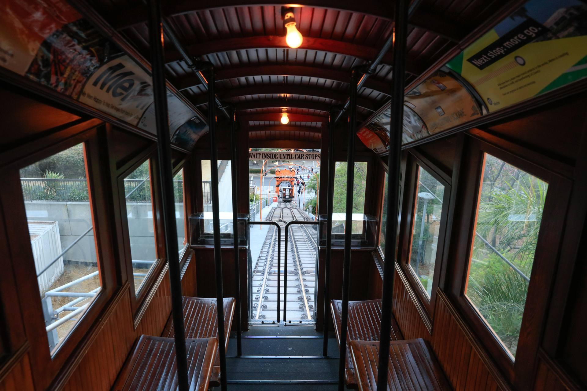 Angels Flight Railway car interior