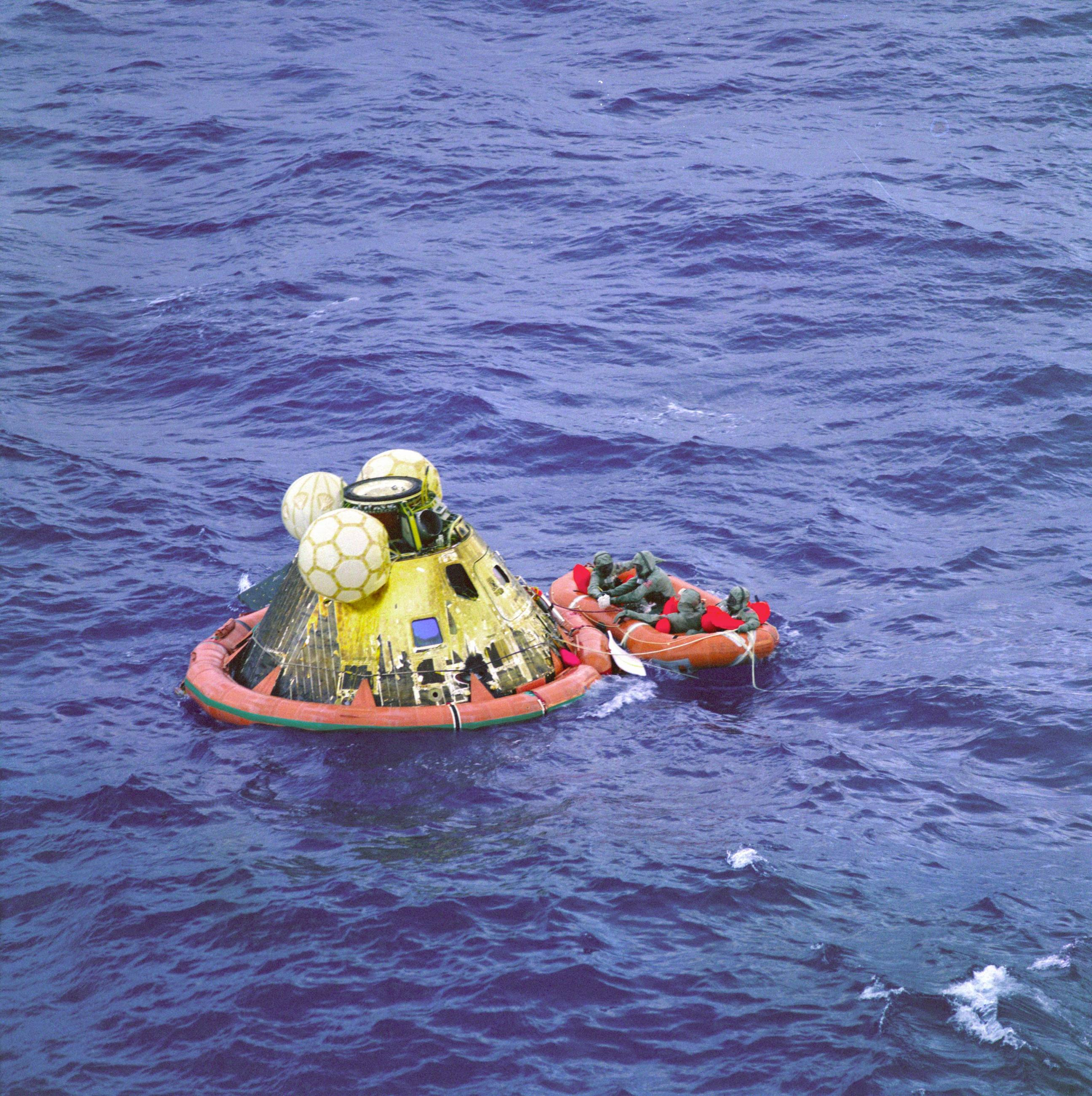 "Apollo 11 Command Module ""Columbia"" Splashdown"