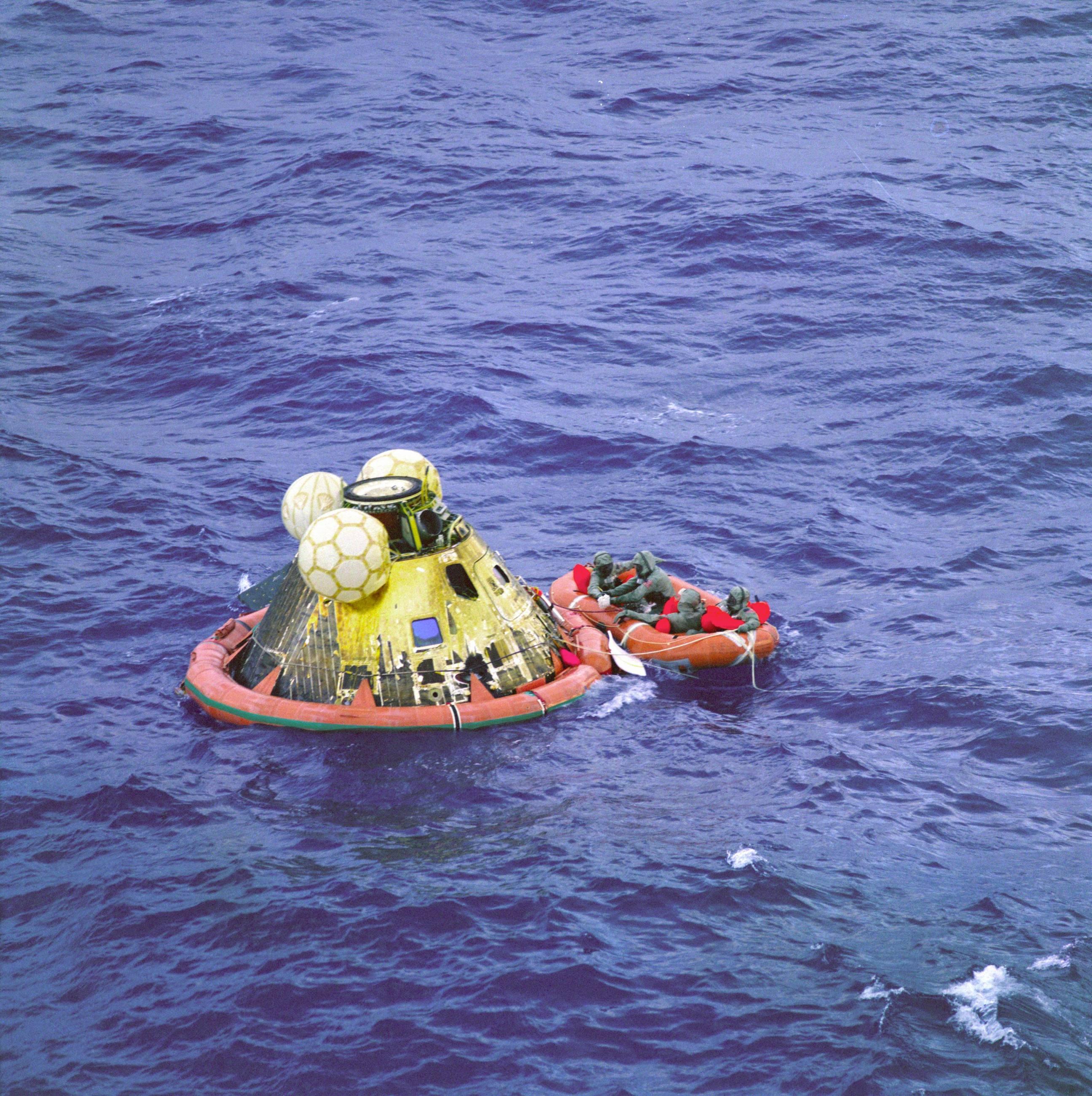 """Apollo 11 Command Module """"Columbia"""" Splashdown"""