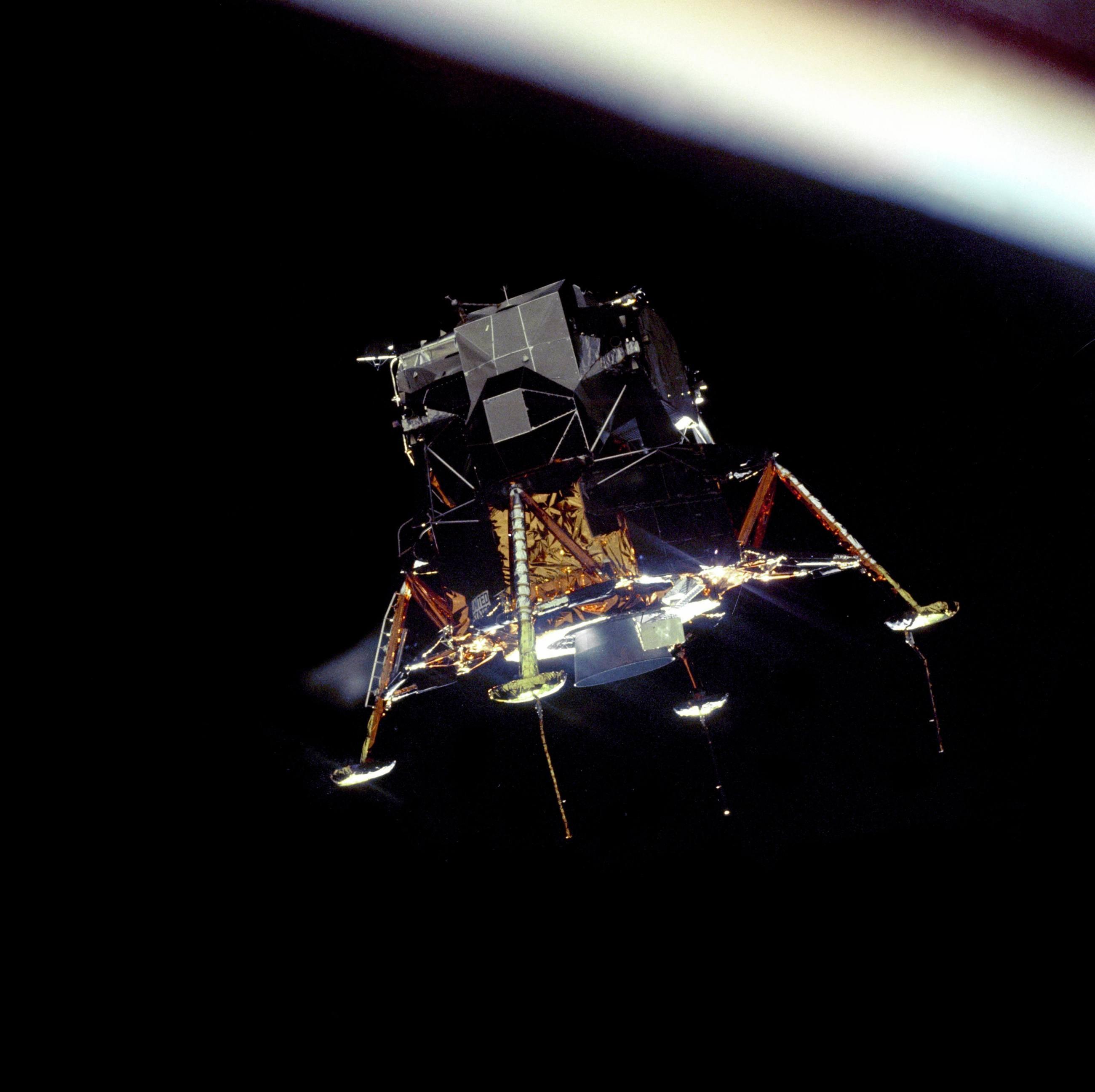 Apollo 11 Lunar Module Eagle in orbit