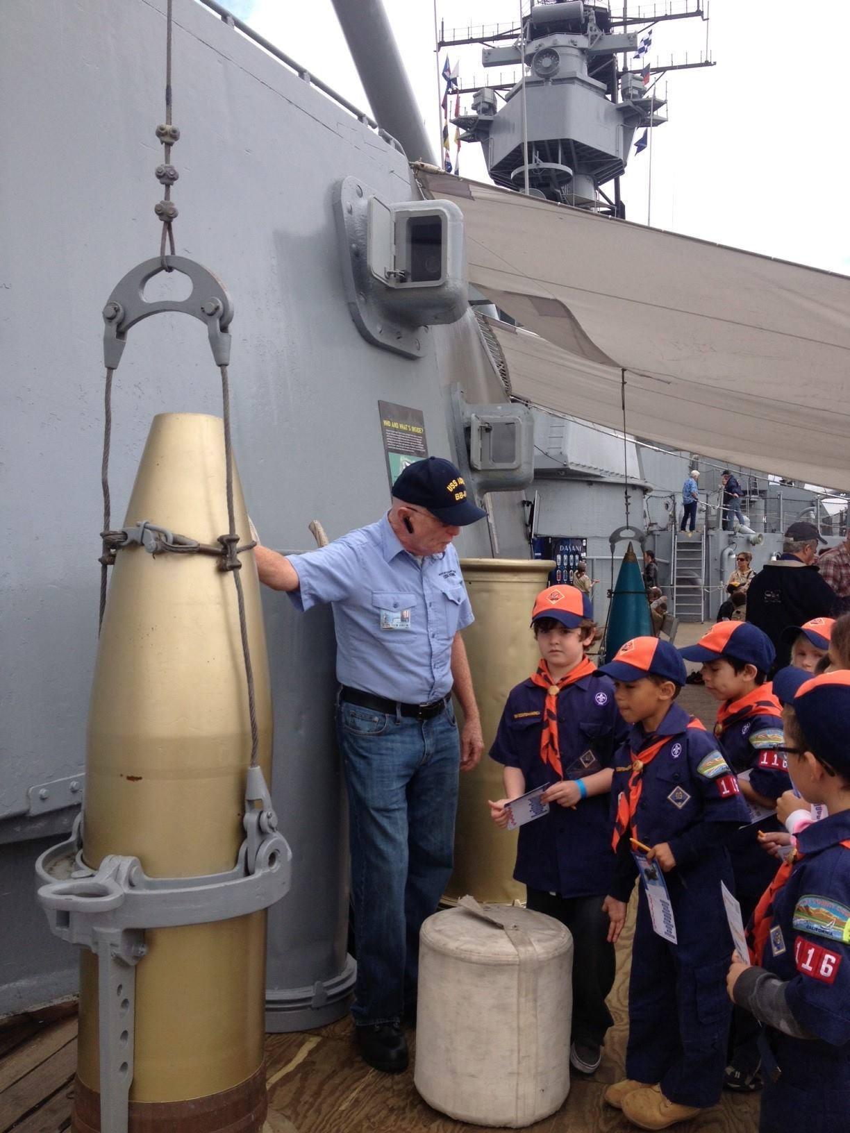 Battleship IOWA Cub Scouts