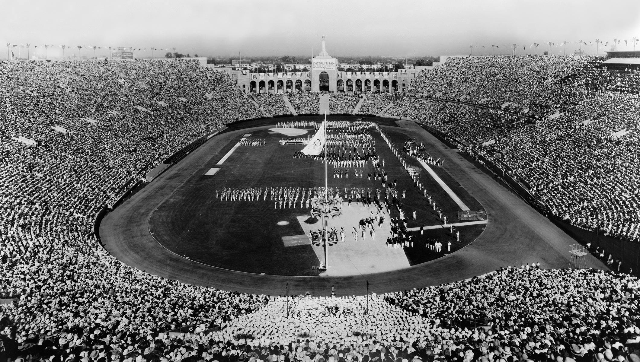 LA Coliseum 1932 Summer Olympics Opening Ceremony