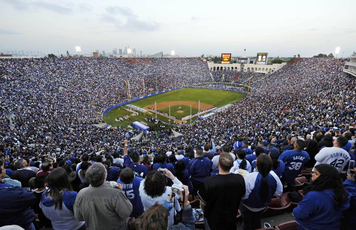 LA Coliseum Dodgers 50th Anniversary Exhibition Game in 2008